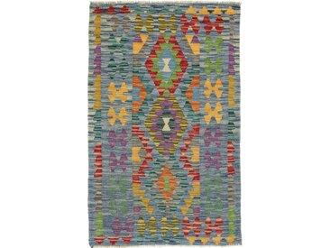 Kelim Afghan Teppich Orientteppich 127x80 cm Handgewebt Klassisch