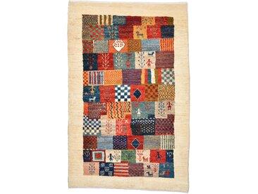 Perser Gabbeh Loribaft Teppich Persischer Teppich 131x88 cm Handgeknüpft Modern