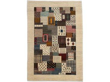 Perser Gabbeh Loribaft Teppich Persischer Teppich 197x135 cm Handgeknüpft Modern