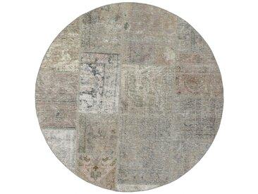 Patchwork Teppich Persischer Teppich 151x149 cm, Rund Handgeknüpft Modern