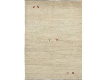 Perser Gabbeh Natural Teppich Orientalischer Teppich 221x153 cm Handgeknüpft Modern