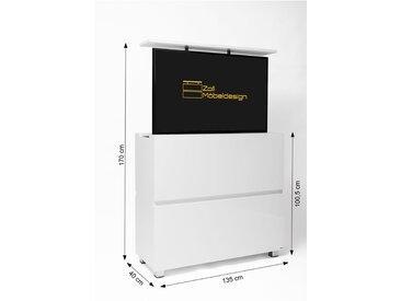 TV Lift Kommode SL-55 schwarz matt/graphitgrau spiegelglanz