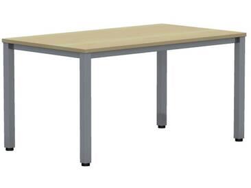 EXPERT Schreibtisch mit Quadratrohrgestell, rechteckig, 80cm tief