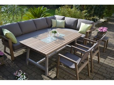 Enviro Wood Ecklounge 2 Stühle Tisch Mailand