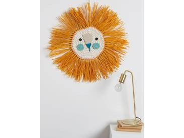 Löwenkopf, gehäkelt aus Bast Ila y Ela® ocker