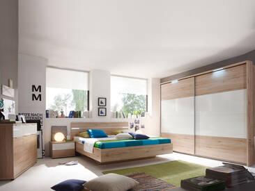 PIRA Komplett-Schlafzimmer, Material Dekorspanplatte, Eiche...