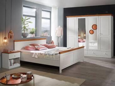 DOVER Schlafzimmer Kiefer weiß / honig