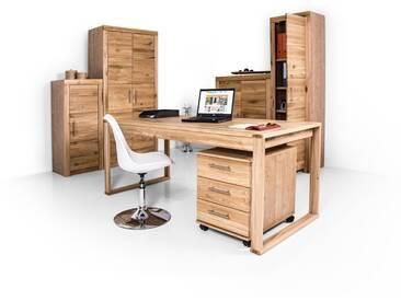 OFFICE FOUR komplett Büro Teilmassiv, Kernbuche teilmassiv