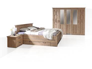 NIZZA Komplett-Schlafzimmer, Material MDF, Bramberg fichtefarbig