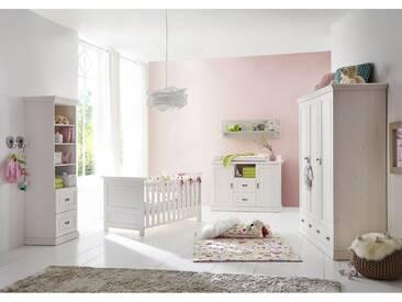 ODETTE Babyzimmer Kiefer Massivholz / weiß