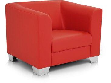 CHICAGO Sessel / Cocktailsessel, Material Kunstleder, rot