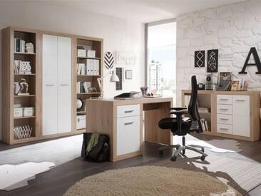 CHESTER I Komplett-Büro, Material Dekorspanplatte, Eiche...