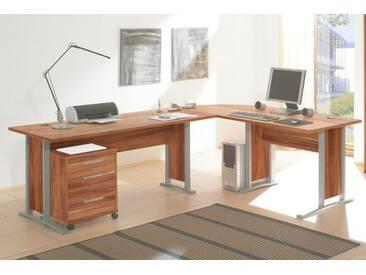 OFFICE LINE Winkelkombination, Walnuss Dekor