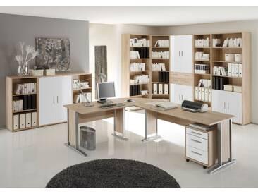 OFFICE LINE Heimbüro 9tlg Eiche Sonoma Dekor  / weiß