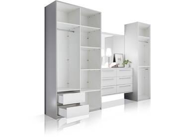 MELBOURNE Kleiderschrankkonzept II weiß ohne Türen