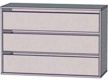 Schubkasteneinsatz mit 3 SK 98,70 cm breit, grau