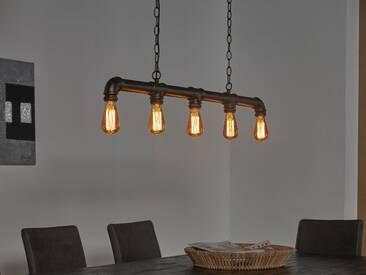 TAFEL Hängelampe Industrial tube schwarz, 5 Lampen