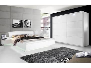 SILENT Komplett-Schlafzimmer, weiss Hochglanz,  4-teilig, 200 cm