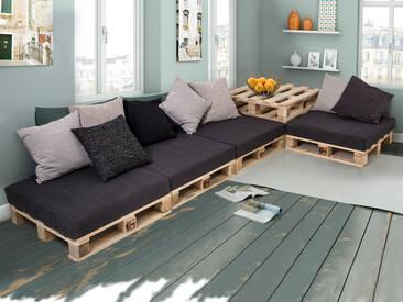 PALETTI Sofalandschaft II Sofa aus Paletten Fichte massiv,...