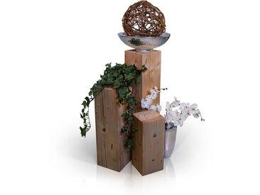 Blumensäulen 3-er Set, Material Massivholz, Fichte massiv,...