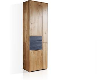 LAGOS Stauraumelement I, Material Massivholz, Wildeiche / grau