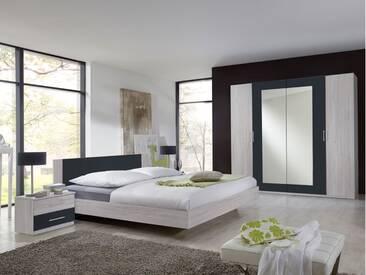 FLORES I Komplett-Schlafzimmer, Material Dekorspanplatte, 180...