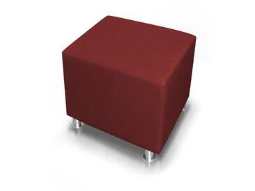 KUBO Sitzwürfel 45 cm, Material Kunstleder, weinrot