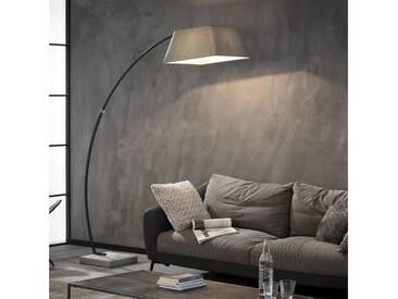 HANNO Bogenlampe mit square Fuß, grau