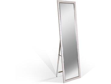 BILA Standspiegel weiss 157x43 cm, Material Metall