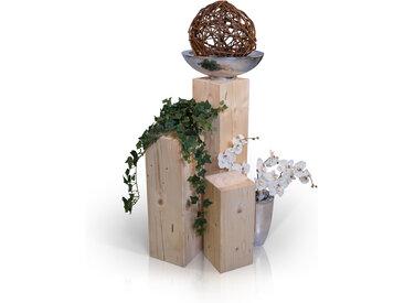 Blumensäulen 3-er Set, Material Massivholz, Fichte massiv, natur