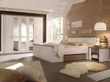 LUBA Komplett-Schlafzimmer, Material MDF, weiss piniefarbig  /...