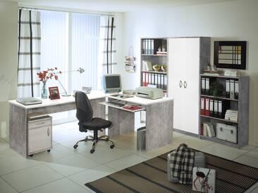 OFFICE COMPACT Heimbüro betongrau  / weiß