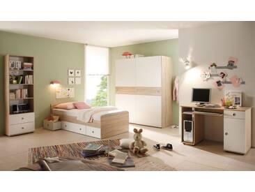 TINA Jugendzimmer Sonoma Eiche Dekor / weiß