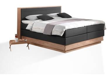 MENOTA Boxspringbett mit Bettkasten, massivem Holzrahmen und...