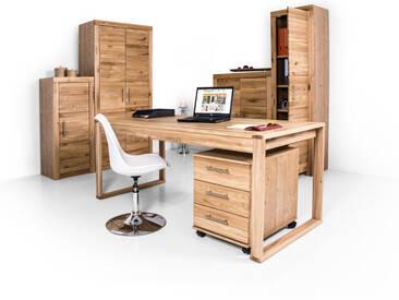OFFICE FOUR komplett Büro, Material Teilmassiv, Wildeiche...