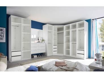 MELBOURNE Kleiderschrankkonzept weiß ohne Türen