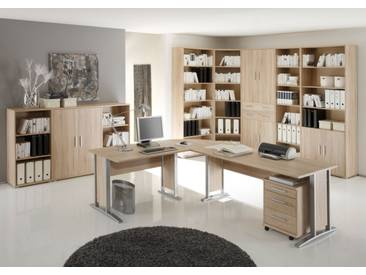OFFICE LINE Heimbüro I 9tlg, Material Dekorspanplatte, Eiche...