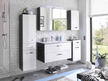 MAY Badezimmer Set grau / weiß