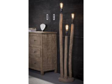 UTE Stehlampe 3er aus Eukalyptusholz