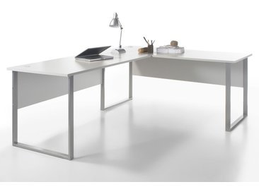 OFFICE DELUXE Winkelkombination, Material Dekorspanplatte, grau
