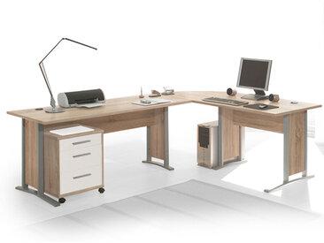 OFFICE LINE Winkelkombination, Material Dekorspanplatte, Eiche...