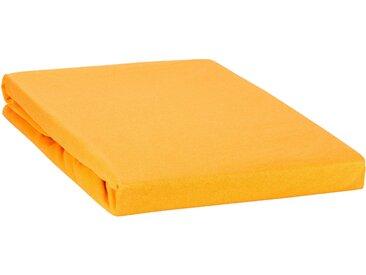 """Spannbetttuch """"Line green"""" auch für`s Wasserbett 140x200 - 160x220-orange"""