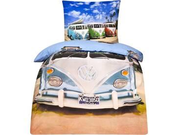 Wende Bettwäsche VW Volkswagen Bulli 135x200 Renforce G106 600 VW1 100