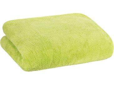Floringo Luxus  Well-Soft-Decke Kuscheldecke mit umlaufendem Schrägeinfassband 95°-hellgrün