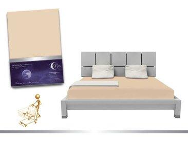 """Luxus Wasserbett Spannbettlaken """"Line platin"""" 180 - 200x220 240g/m² Spannbetttuch -leinen"""