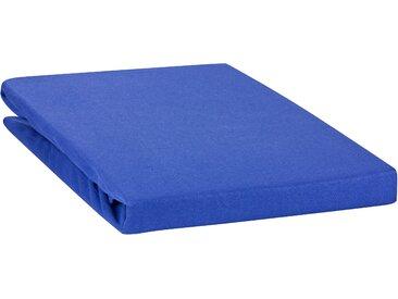 """Spannbetttuch """"Line green"""" auch für`s Wasserbett 90x200-100x220-royalblau"""