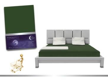 Luxus Wasserbett Spannbettlaken Line platin 180 - 200x220 240g/m² Spannbetttuch -moos