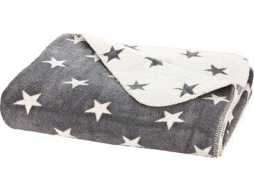 Moon Luxus Sterne Wolldecke Kuscheldecke 150x200-anthrazit