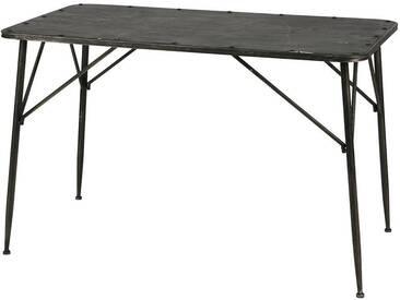 BEPUREHOME Next Tisch Schwarz Metall Vintage-Look 78x124x66cm 800768-Z